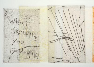 © 2012 monoprint | intaglio | detail| edition: unique; printed at Lily Press Rockville, MD